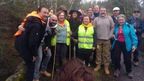 Miembros de la asociación de la Vía Künig y concejales de Lugo y la alcaldesa