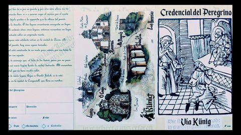 Credencial relativa a la Vía Künig