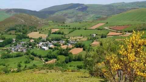 Vista da aldea de Teixeira, na que se localizan os problemas de cobertura