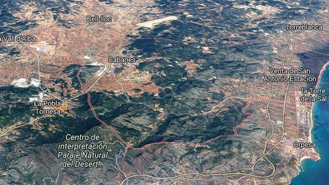 Localización de Cabanes, en Castellón