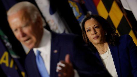 Joe Biden y Kamala Harris, aspirantes demócratas a la presidencia y vicepresidencia de Estados Unidos