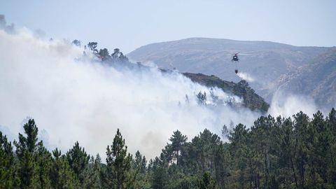 En lo que va de verano, varios incendios han afectado a la Serra do Xurés. En la imagen, en la zona del parque que pertenece a Lobios