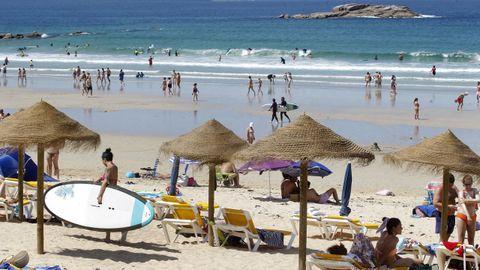 Playa de A Lanzada, en O Grove