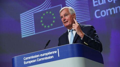 El jefe negociador europeo para la futura relación con el Reino Unido, Michel Barnier