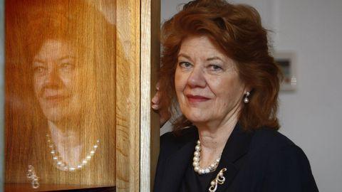 Anne Perry, retratada en Madrid en el año 2008