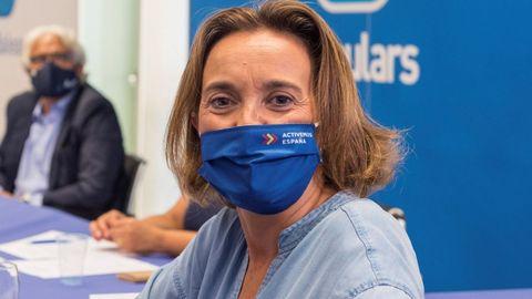 La nueva portavoz del Grupo Parlamentario Popular, Cuca Navarra, en una imagen de archivo en las islas Baleares