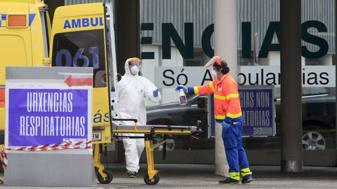 En las urgencias del HULA se tuvo que habilitar el pasado 2020 una zona específca para pacientes covid