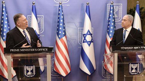Pompeo y Netanyahu, durante la rueda de prensa conjunta