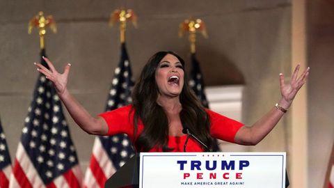 Kimberly Guilfoyle, expresentadora de Fox News y actual novia de Donald Trump júnior, hizo una apocalíptica intervención en la convención republicana