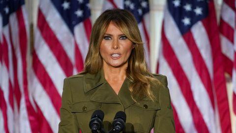 Melania Trump, durante su discurso ante la convención republicana