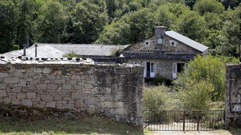 Exterior del pazo de A Fervedoira en Lugo, vacío desde el pasado sábado.