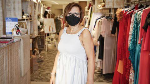 Mari Carmen Cid, en su tienda Alma de Ourense
