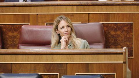 Cayetana Álvarez de Toledo, en su escaño del Congreso, el pasado julio