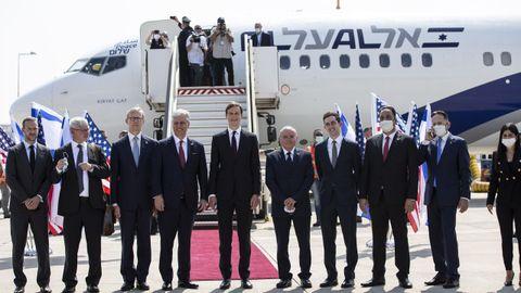 El asesor y yerno de Trump, Jared Kushner, lidera la delegación israelo-estadounidense