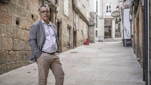 Alberto Rodríguez, en la calle Gravina, donde su tía tenía una tienda de chuches que visitaba con frecuencia