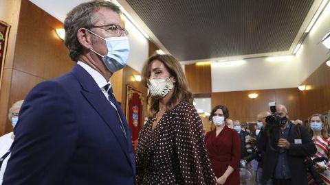Alberto Núñez Feijoo con Eva Cárdenas