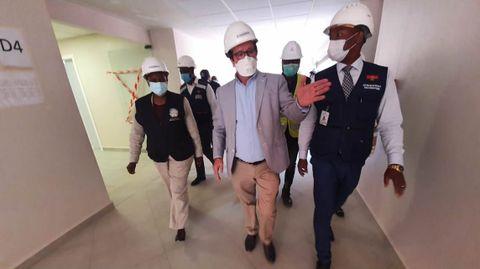 José, estos días, en una visita al hospital por parte de las autoridades