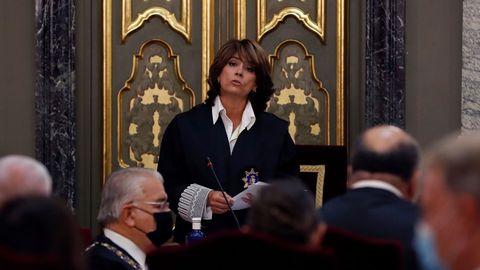 Dolores Delgado, durante la inauguración del año judicial del 2020
