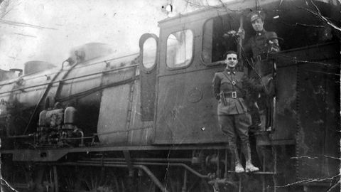 Julián Fuster en el tren hospital durante la Guerra Civil española