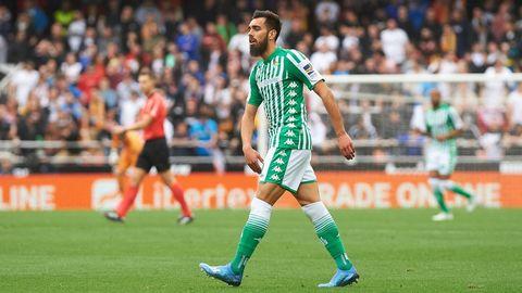 El santiagues Borja Iglesias esta con ganas de demostrar que es uno de los grandes de España y lo hara una temporada mas con la camiseta del Betis.