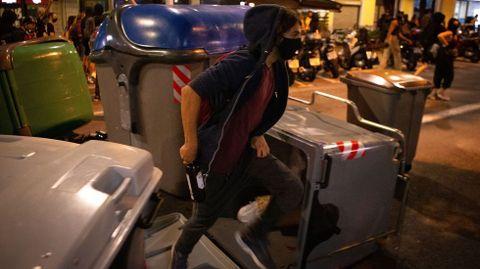 Imagen de las revueltas registradas ayer en Barcelona