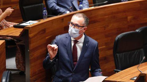 El consejero de salud, Pablo Ignacio Fernández Muñiz