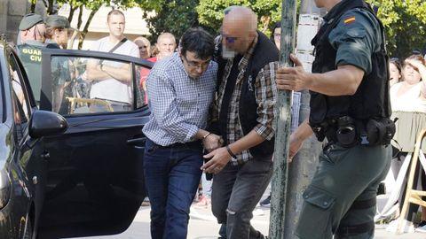 José Luis Abet, cuando fue puesto a disposición judicial