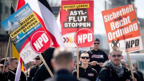Manifestación ultraderechista en Berlín