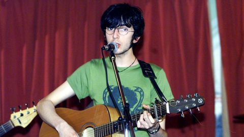 Xoel López, en el año 2001, tocando en la sala Mardi Gras