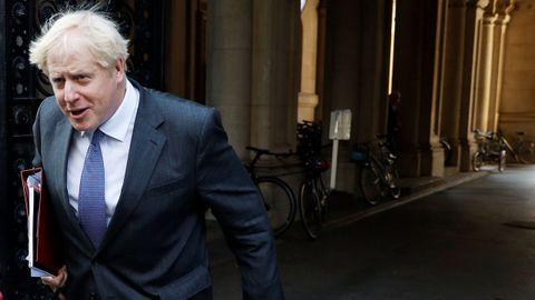 Boris Johnson, el pasado martes, tras una reunión de su gabinete en Londres