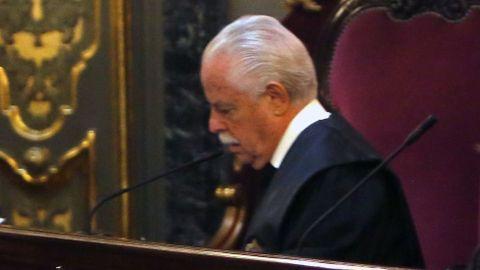 Luis Navajas, durante la vista del Prestige en el Tribunal Supremo