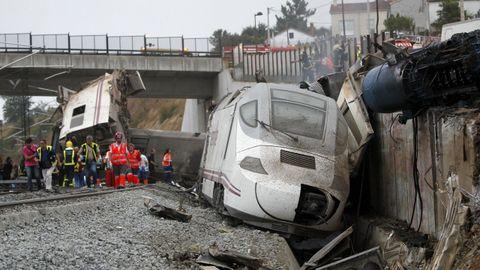 Accidente del Alvia en la curva de Angrois, el 24 de julio de 2013.
