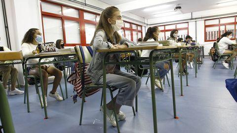 Primer día de clase en el IES Ferrol Vello