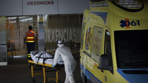 Entrada del servicio de Urgencias del Chuac