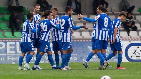 El Deportivo disputó el sábado en Vilalba su primer amistoso con público