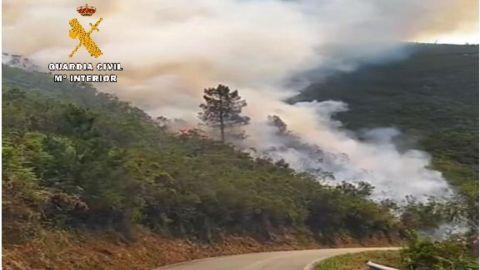 Incendio en As Veigas, en Taramundi