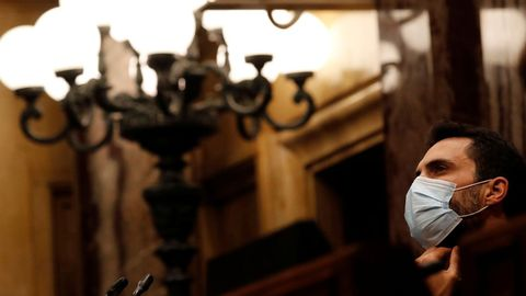 El presidente del Parlamento catalán, Roger Torrent