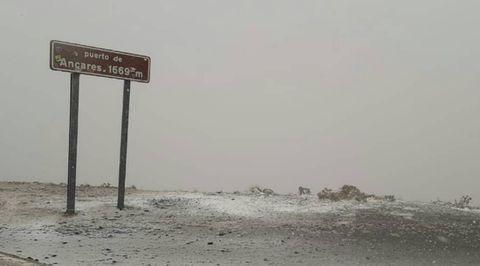 Prmera nevada en puerto de Ancares