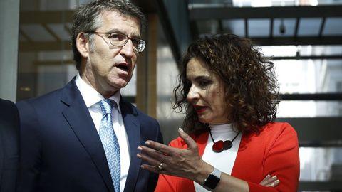 Feijoo y la ministra Montero