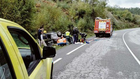 En la Ou-540 se registró un accidente a las 14.30 horas de este domingo