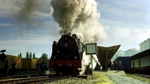 Celebración no ano 2000 dos 125 anos da chegada do tren a Lugo