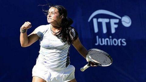Uxía Martínez en el torneo ITF Juniors, en Portugal