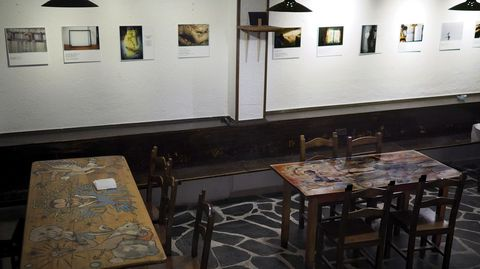 As fotografías están expostas no Mesón do Forno