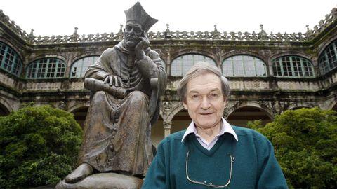 Roger Penrose, durante su visita a Santiago en el 2011, donde recibió el Premio Fonseca