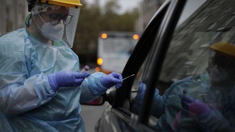 Pruebas del coronavirus. Autocovid del Ventorrillo, en A Coruña