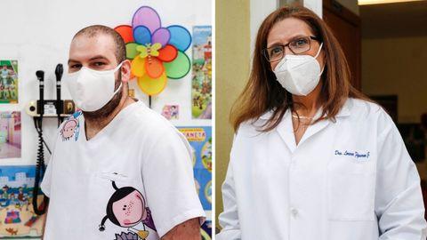Jesús Francisco Navarro y Lorena Figueroa, sanitarios de Ribadavia y Paderne de Allariz