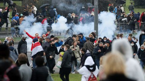 Una granada estalla en un mitin contra Lukashenko