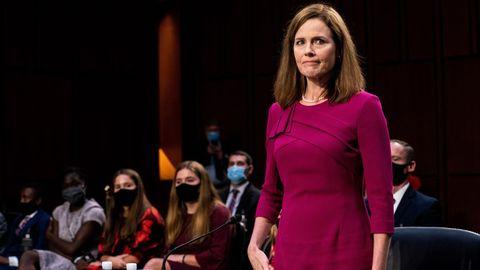 Amy Coney Barrett, en el inicio de las audiencias este lunes en el Comité Judicial del Senado de EE.UU.