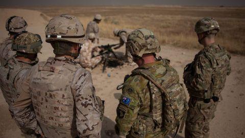 Militares de la coalición internacional desplegados en Irak