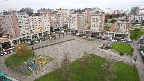 Praza de Augas Férreas, otro ejemplo para Lestegás de un urbanismo duro, de piedra y cemento